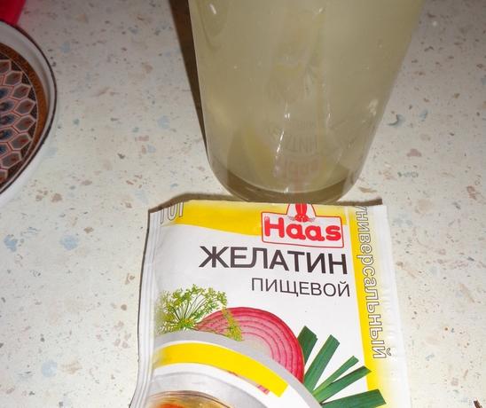 Как сделать из творога желатин