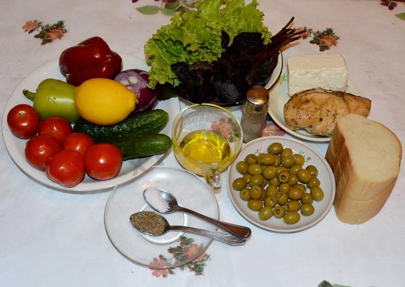 Ингредиенты к салату