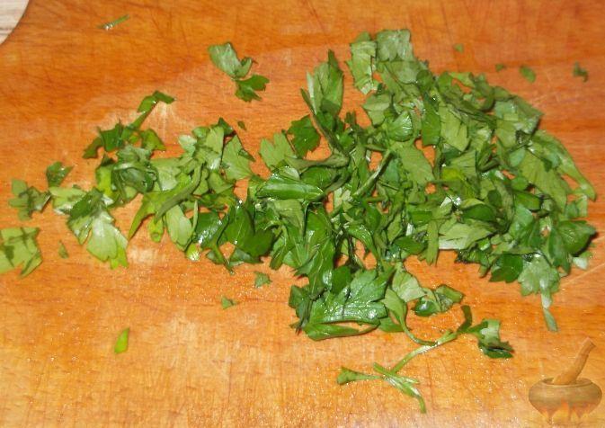 Нарезка зелени