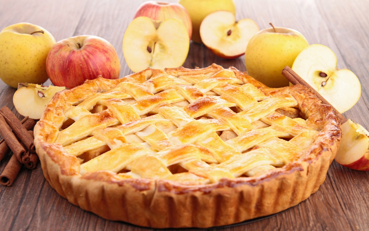 Рецепт пирог с яблоками картинки небе