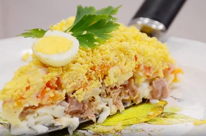 мимоза салат со сливочным маслом с фото мало весят